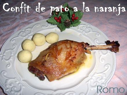 Recetas y trucos de cocina confit de pato a la naranja for Pato a la naranja