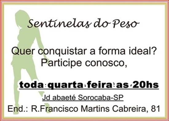 SENTINELAS DO PESO