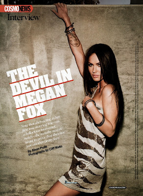 Megan Fox Covers October Cosmo