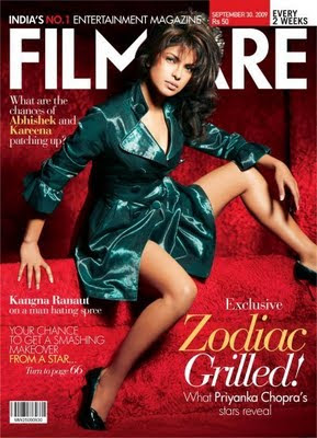 Priyanka Chopra On The Cover Of Filmfare Magazine