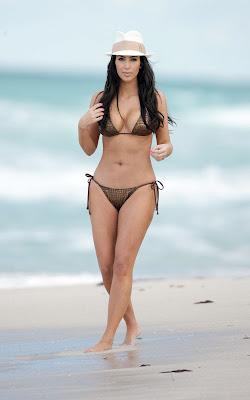 Kim Kardashian – Bikini Photos at the Beach in Miami photo