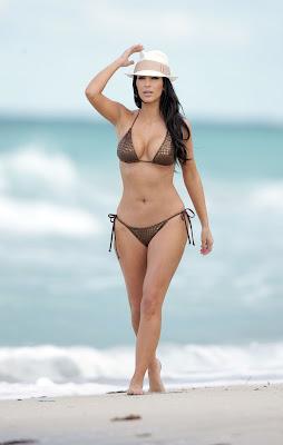 Kim Kardashian – Bikini Photos at the Beach in Miami wallpepars