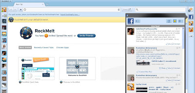 RockMelt Browser FaceBook