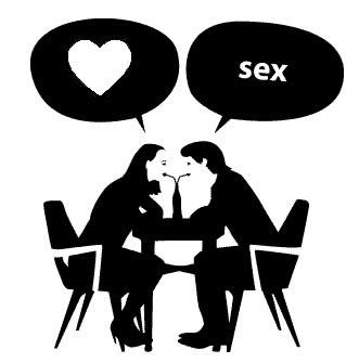 Os pensamentos de homem e mulher