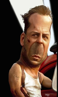 Caricatura do Bruce Willis