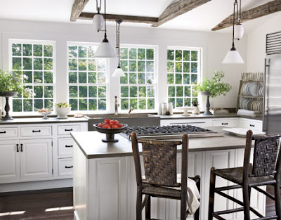 Willow decor kitchen trend no upper cabinets for White country kitchen designs