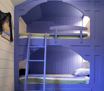 Willow decor built in beds for Bunk beds built into wall
