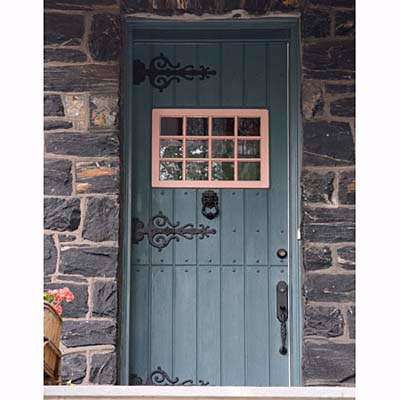 Willow decor welcome back thru dutch doors for Cottage style front doors