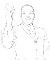 free printable pages of martin luther king