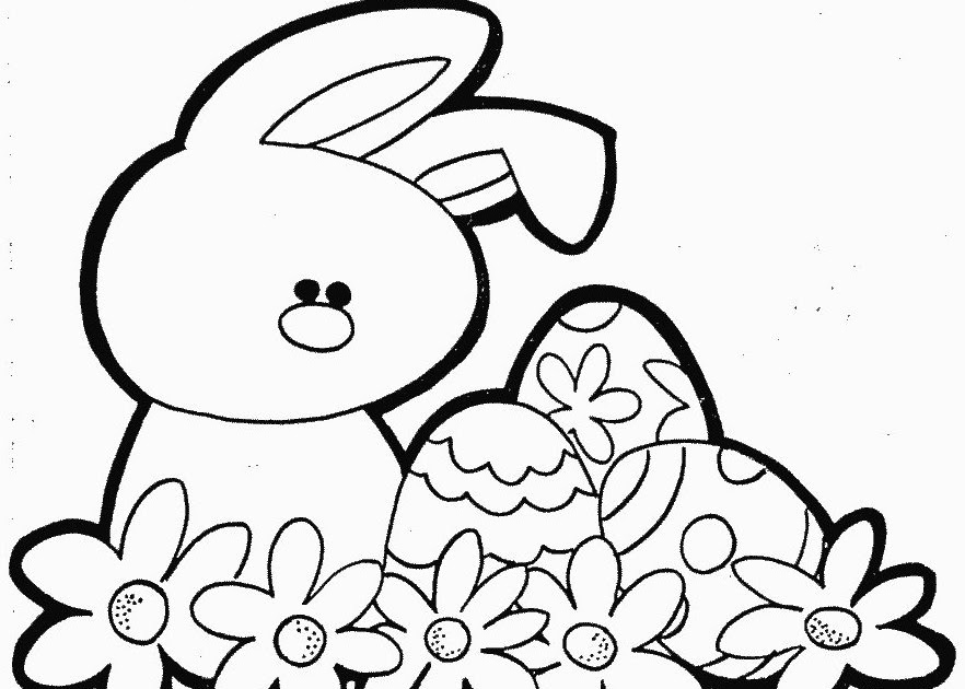 flower coloring pages  free printable easter coloring
