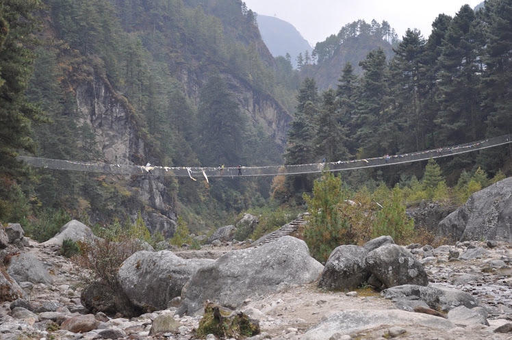 Bridge out of Namche