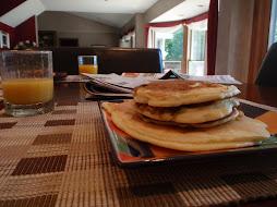 blueberry pancakes for breakfast