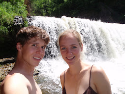 me and phil at the falls in willow river state park