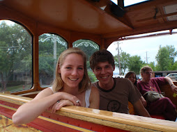 phil and me in the trolly-ride