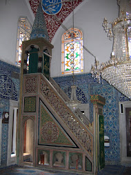 Beautiful tiles inside the Cinili Mosque