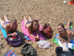 Me, Charlotte and Bianca at the beach