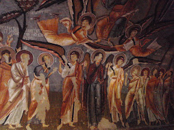 fresco in a cave church (11th century)