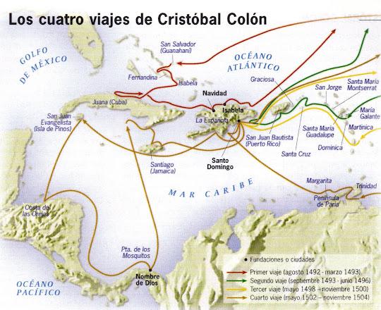 RESUMEN DE HISTORIA.COM: LOS 4 VIAJES DE COLÓN (RESUMEN)