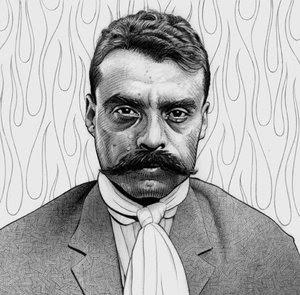 Emiliano Zapata. Dibujo: Komandante 2005 (Deviantart).