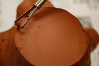 Vaciado del vaso en cerámica estilo japonés