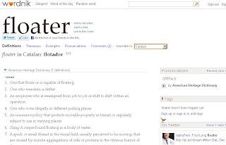Captura de pantalla Wordnik diccionario online