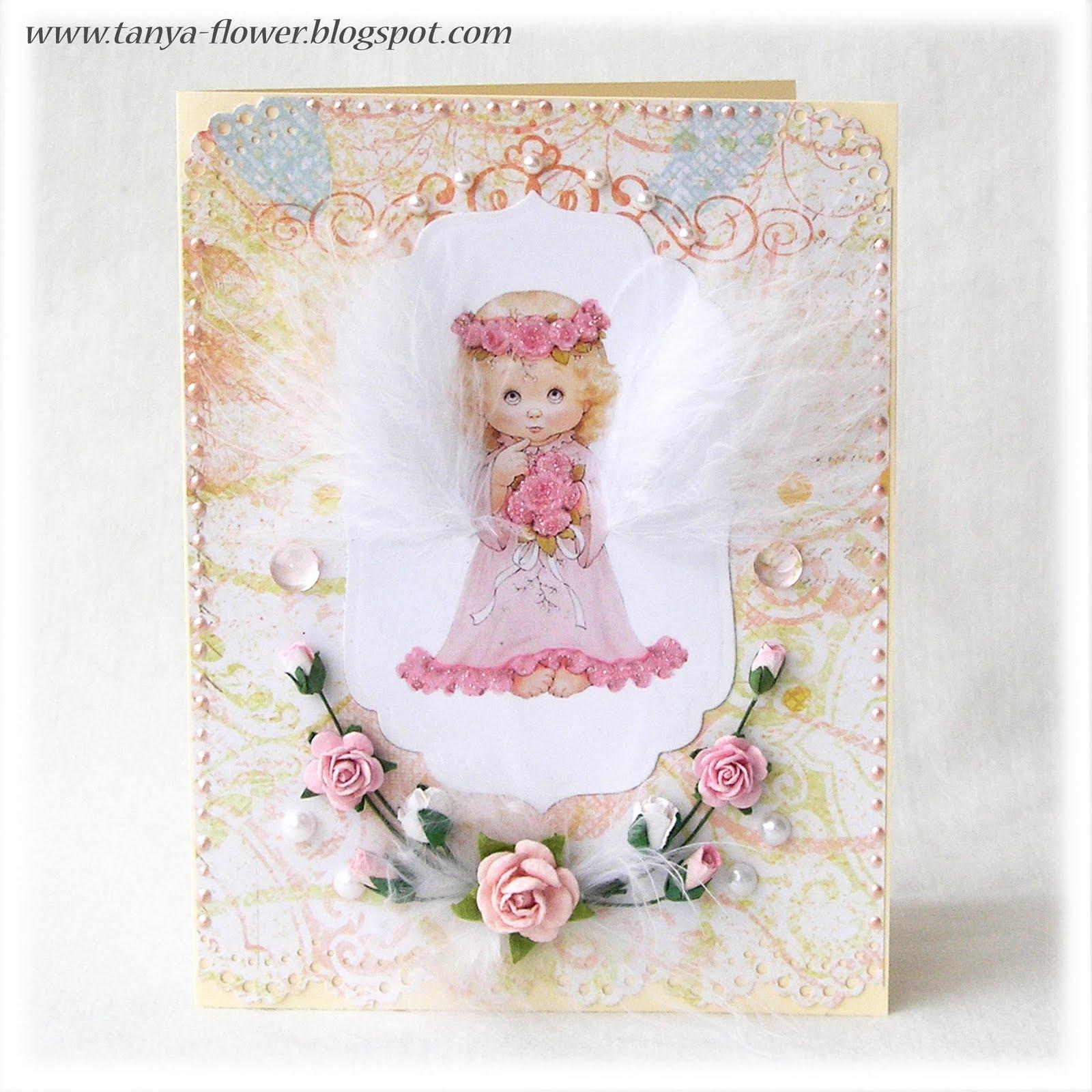 Сделать открытку с Ангелом своими руками можно следующим образом 30
