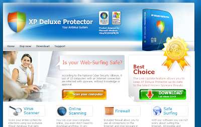 XP Deluxe Protector web site screenshot. xpdeluxeprotector.com
