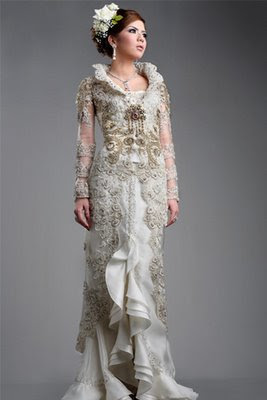 Wedding dress and kebaya