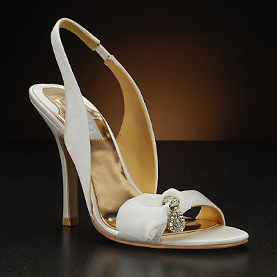 Badgley Mischka Harrow White Wedding Shoes