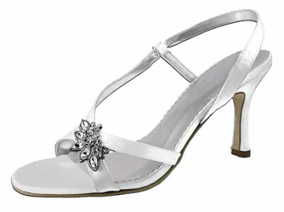 Rhine Stone Accent  Wedding Shoes