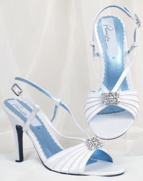 White and blue luxury Wedding Shoes