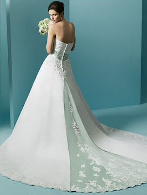 The Wedding Gown white silk.