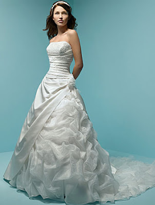 The Wedding Gown with Detail with the detail in the waist.