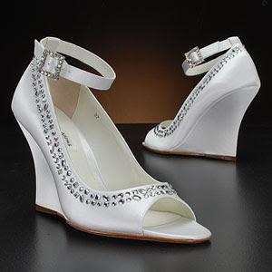 Wedge Wedding Shoes by Benjamin Adams.