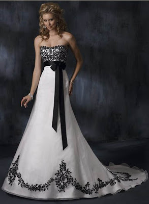 The Wedding Gown Black and White