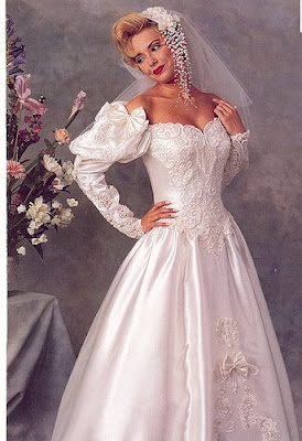 Wedding Gown long sleeved.