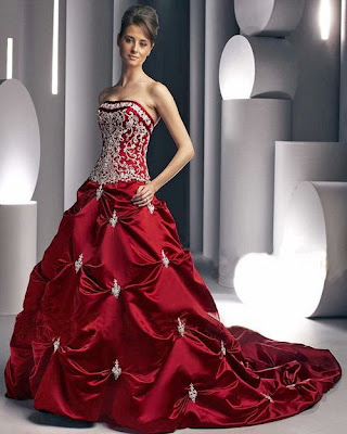 Design gown with a crystal.