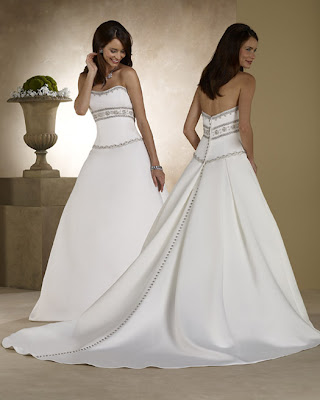 Design without bodice and lace wedding gown.