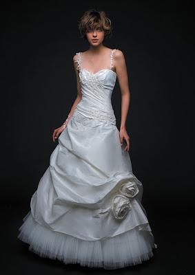 Wedding dress with unique detail.