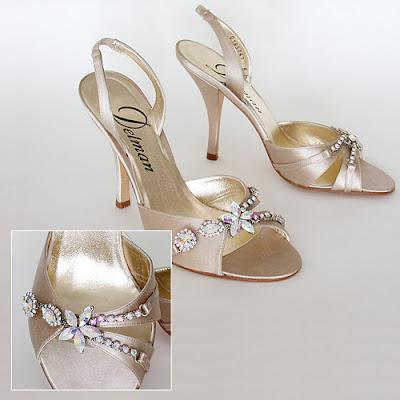 Beautiful wedding shoes with luxury.
