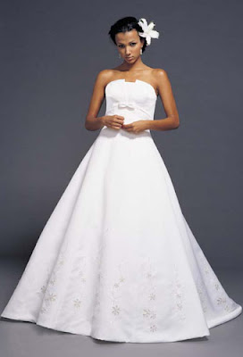 Wedding dress design in various styles.
