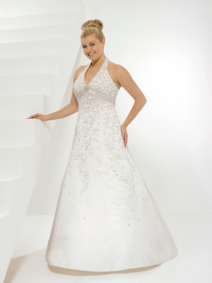 Wedding dress for the big size.
