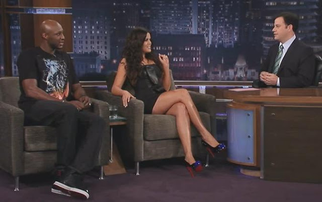 Khloe Kardashian & Lamar Odom Interview On Jimmy Kimmel Live
