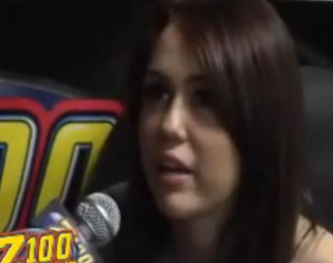 Miley Cyrus Interview On Z100 Backstage At Prudential Center New Wark NJ