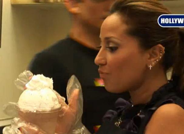 Adrienne Bailon Makes Her Own Milkshake At Millions of Milkshakes