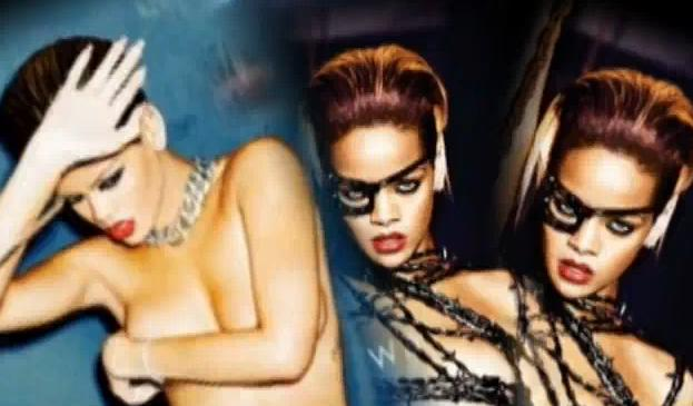 Rihanna bare it all for her latest single off her new album, Rated R