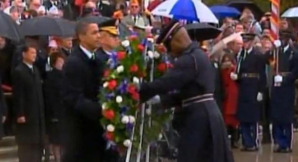 President Obama Places Wreath At Arlington Cemetery On Verterans Day