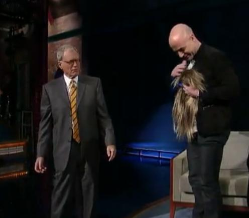 Andre Agassi Hair Farewell On David Letterman
