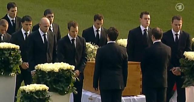 German National Football Famous Goalkeeper robert Enke Being Remember