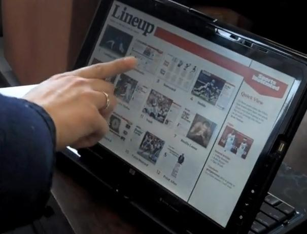 Time Inc Tablet PC Magazine Concept Demo SI Issue